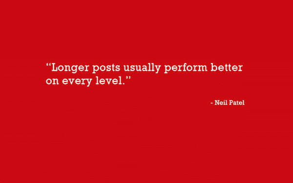 This quote from Neil Patel drives home the value of long form or evergreen content.