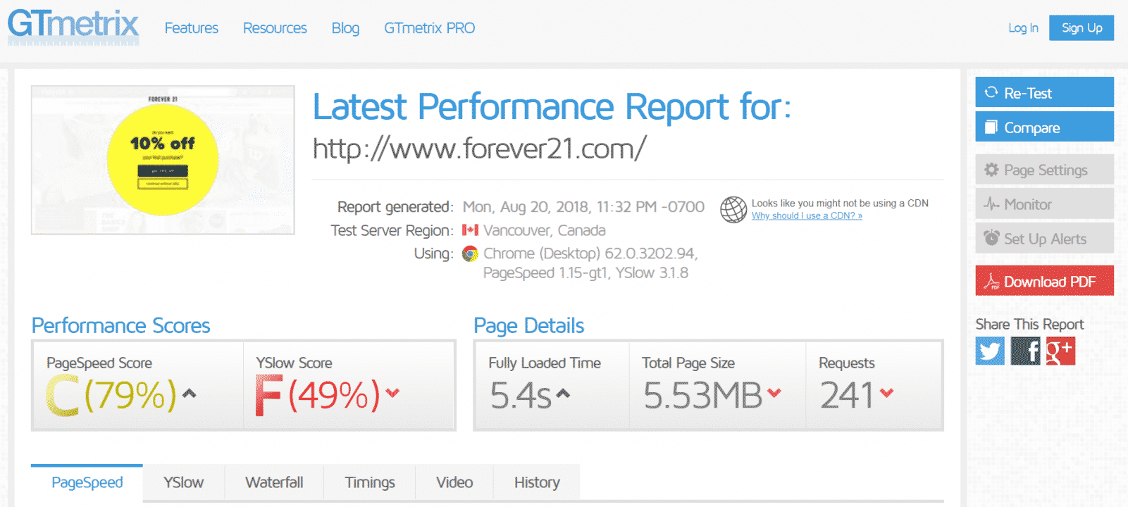 Optimize your website's page loading time
