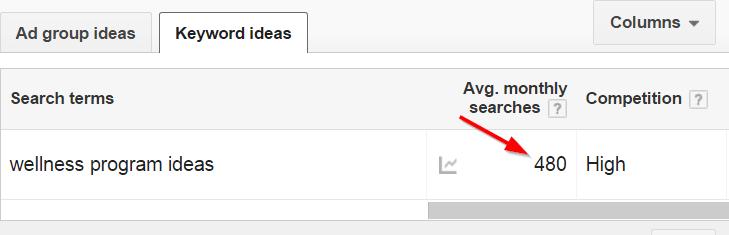 google keyword planner keyword