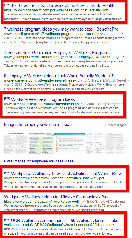 pdfs in google search results