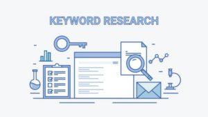 Lock key representing key for the keyword research