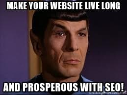 make your website live long and prosperous with seo