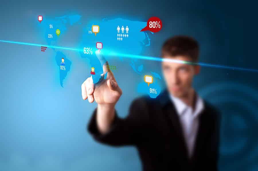 Pushing a virtual digital marketing screen
