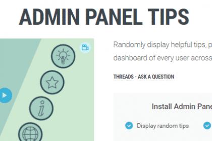 admin panel tips