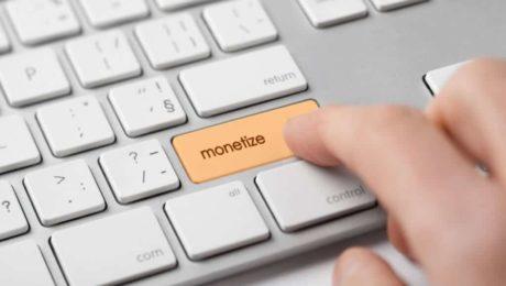 solo online business Monetization Concept