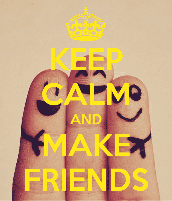 keep calm and make friend in your niche