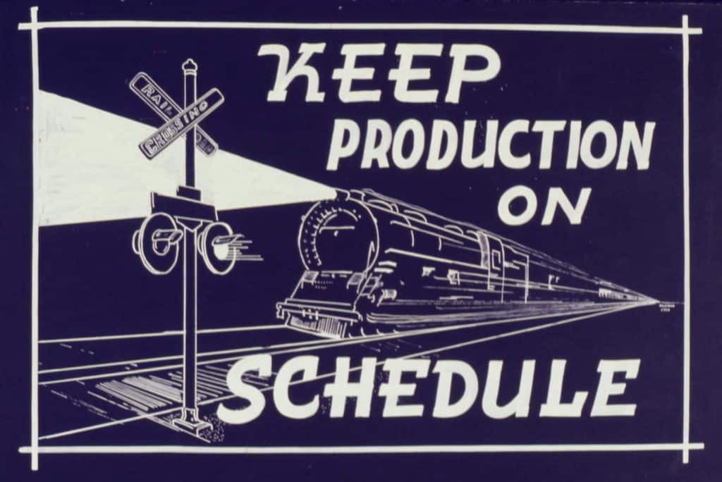 keep a posting schedule