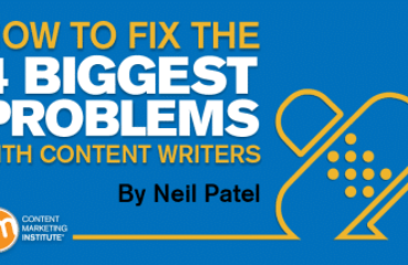 Biggest problems with content writers